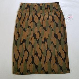 Nwt LuLaRoe Cassie skirt leaf leaves fall green S